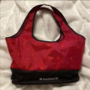 American girl doll carry bag purse red